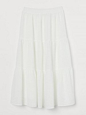 H&M Vid kjol vit