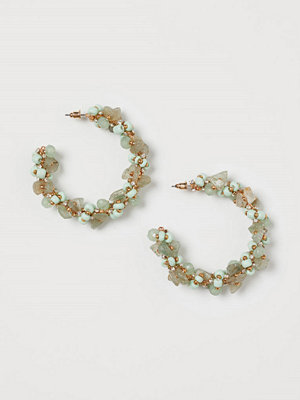 H&M Runda örhängen grön
