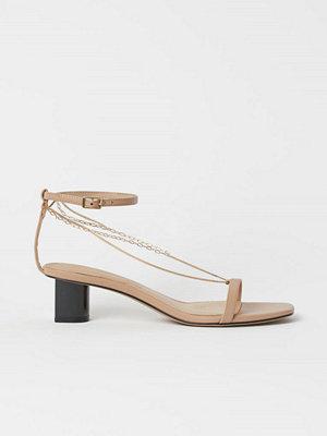 H&M Sandaletter med metallänkar beige