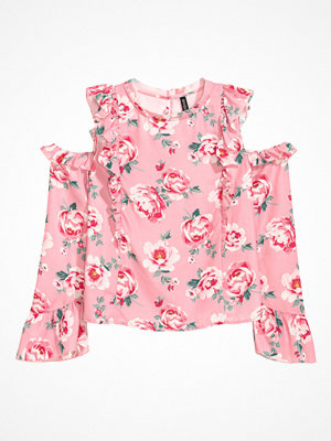 H&M Cold shoulder-blus rosa
