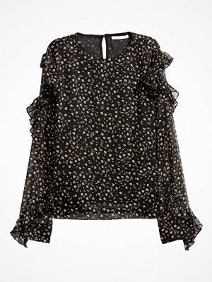 H&M Blus med volang svart
