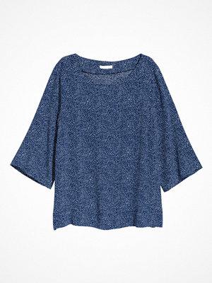 H&M Kortärmad blus blå