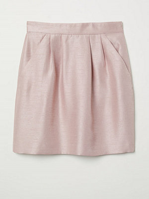 H&M Strukturvävd kjol rosa
