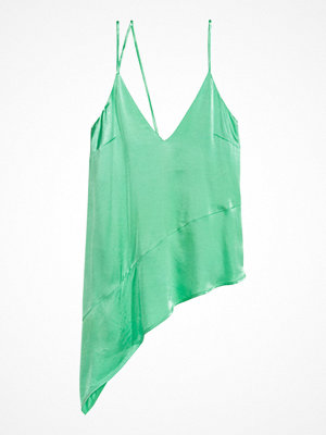 H&M Asymmetrisk satintopp grön