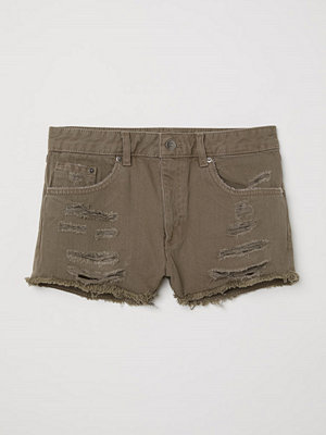 H&M Jeansshorts Skinny Regular grön