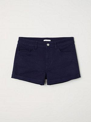 H&M Korta twillshorts blå