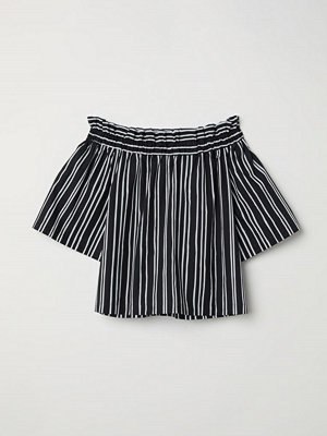 H&M Off shoulder-blus svart