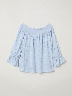 H&M Off shoulder-blus blå