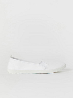 H&M Slip on-sneakers vit