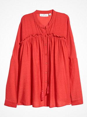 H&M Vid blus röd