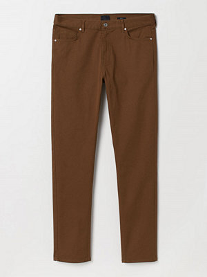 H&M Twillbyxa Slim Fit brun