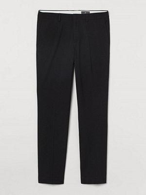 Byxor - H&M Kostymbyxa Slim Fit svart