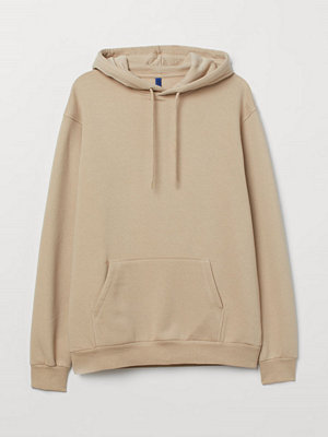 H&M Huvtröja Relaxed Fit beige