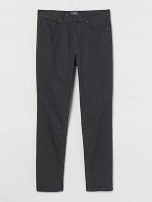 H&M Twillbyxa Skinny Fit grå