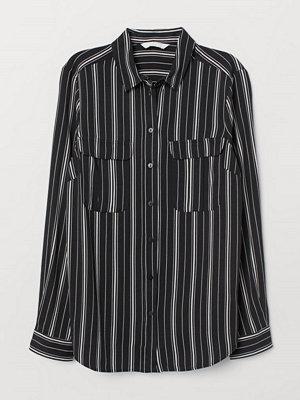 H&M Blus i viskos svart