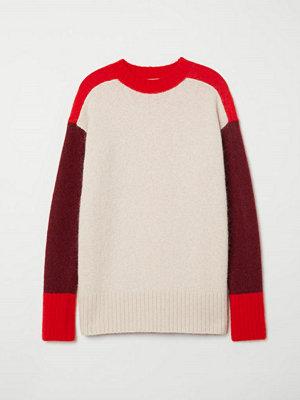 H&M Oversized tröja i mohairmix röd