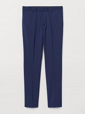 H&M Kostymbyxa Super Skinny Fit blå