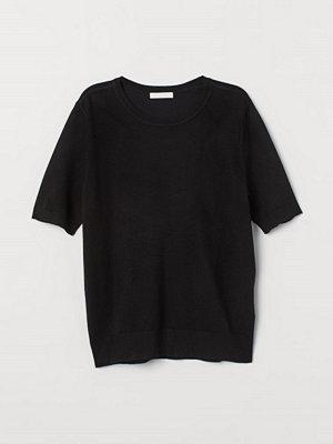 H&M Finstickad tröja svart