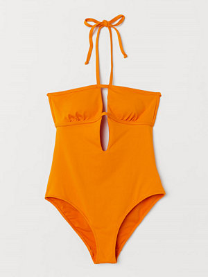 H&M Halterneck-baddräkt orange