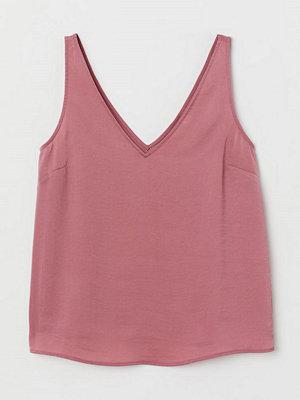 H&M V-ringat satinlinne rosa