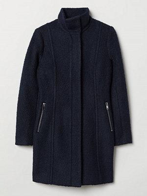 H&M Kort kappa i ullmix blå