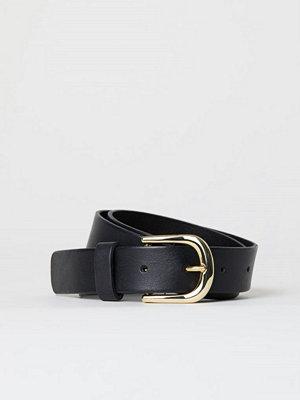 H&M Läderskärp svart