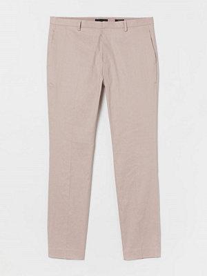 H&M Kostymbyxa Super Skinny Fit brun