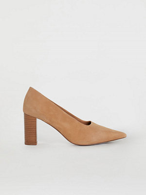 H&M Pumps med blockklack beige
