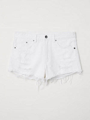 H&M Jeansshorts Skinny Regular vit