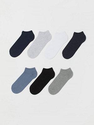 H&M 7-pack sneakersstrumpor blå