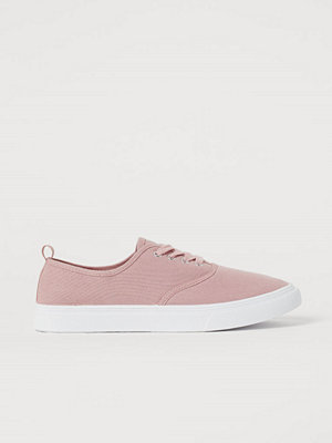 H&M Sneakers i canvas rosa