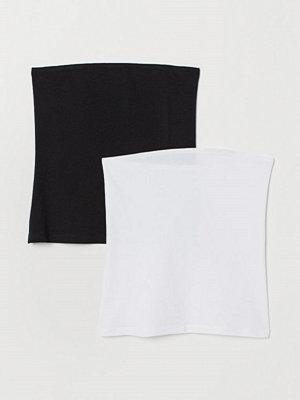 H&M 2-pack tubtopp i bomull svart