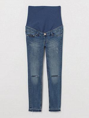 H&M MAMA Skinny Ankle Jeans blå