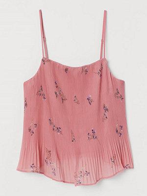 H&M Plisserad topp i chiffong rosa