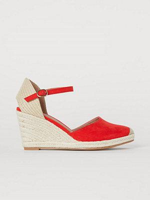 H&M Sandaletter röd