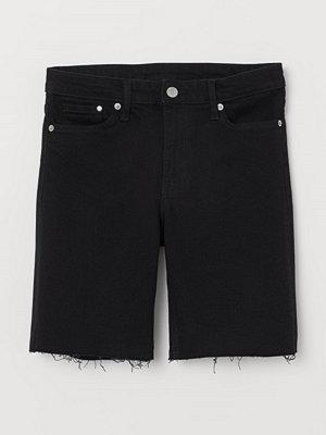 H&M Jeansshorts svart