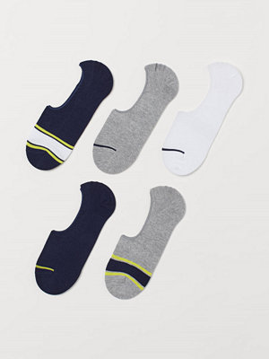 H&M 5-pack sneakersstrumpor vit