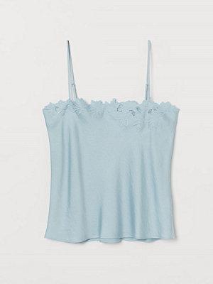 H&M Broderat linne turkos