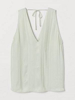 H&M Jacquardvävd topp grön