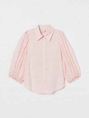 H&M Blus med ballongärm rosa