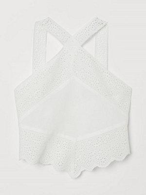 H&M Topp i bomull vit