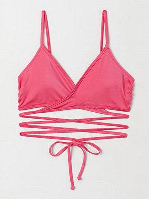 H&M Bikinitopp med omlott rosa