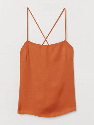 H&M Ärmlös satintopp orange