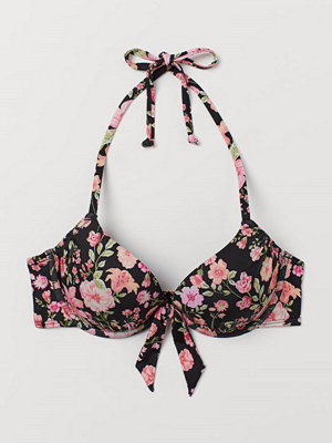 H&M Bikini-bh med super push up svart