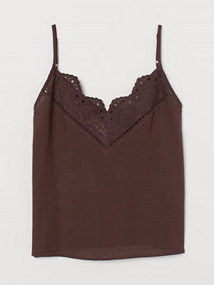 H&M V-ringad topp brun