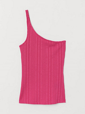 H&M One shoulder-topp rosa