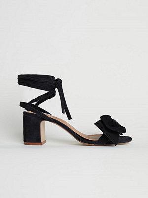 H&M Sandaletter i mocka svart