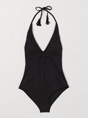 Baddräkter - H&M Halterneck-baddräkt svart