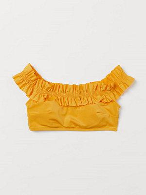 H&M Off shoulder-bikinitopp gul