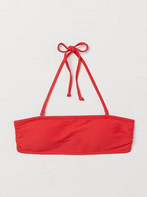 H&M Vadderad bandeaubikini-bh röd